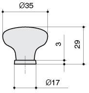 P03.01.69.15 Ручка-кнопка, отделка серебро старое + керамика
