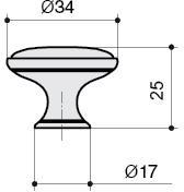 P07.15.00.44 Ручка-кнопка, отделка железо чернёное с лазуритом + керамика голубая