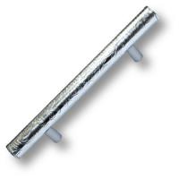 7524.0128.021.173 Ручка рейлинг эксклюзивная коллекция, серебряная кожа с растительным орнаментом