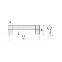 8.1033.0512.30-30 Ручка-скоба 512мм, отделка никель матовый