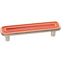 15064Z0960B.X32 Ручка-скоба 96мм, отделка никель глянец + оранжевый+красный