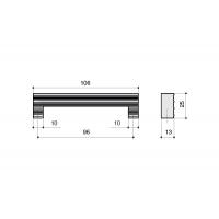 LIF.0140.A0CL1 Ручка-скоба 96мм, отделка хром глянец