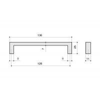 LIF.0133.A0CL1 Ручка-скоба 128мм, отделка хром глянец