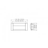 UA 08-0128-AOCOO-G0008 Ручка , алюминий/матовый хром, 128мм, Gamet