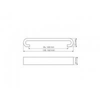 US91-0128-WB00P Ручка Антибактериальная Ручка-скоба 128мм никель матовый