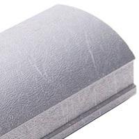 Серебряный шелк, профиль вертикальный шёлк KORALL. Алюминиевая система дверей-купе ABSOLUT DOORS SYSTEM