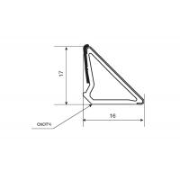 Бортик треугольный под алюминий, самоклеящийся к столешнице 8STEPEN L=4000