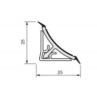 Rauwalon116 Бортик треугольный Мейджик алю к столешнице 8STEPEN L=5000