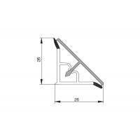 Бортик треугольный алюминий анодированный, гладкий к столешнице 8STEPEN L=3050
