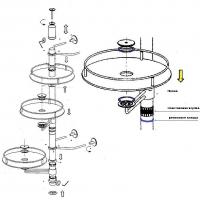 Крепление к столешнице для трубы D50 мм, бронза