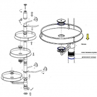 Заглушка для трубы D50 мм верхняя, бронза