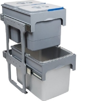Система сортировки мусора,мусорные ведра  на распашной фасад от 400 мм