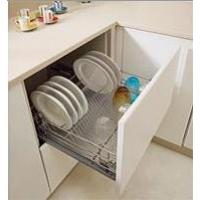 Выкатной посудосушитель в шкаф 600 мм с алюминиевым поддоном, направляющие Grass Nova Pro, с крепежным комплектом