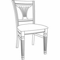 Стул с накладным сиденьем    некрашеный, негрунтованный Милан Фондо массив(Италия)