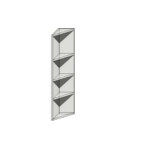 Корпус верхнего концевого скошенного шкафа 960х183х305мм под фасад шириной 368мм