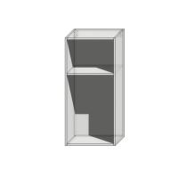 Корпус вернего навесного шкафа 960мм шириной 450мм под 1 фасад (Сушка)