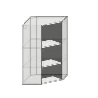 Корпус верхнего углового навесного диагонального шкафа(трапеция) 592х592х960мм диагональ под 1 фасад шириной 368мм