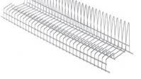 Решетка посудосушителя для тарелок в шкаф шириной 800мм, ДСП16/18, хром
