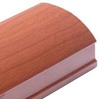 Вишня, профиль вертикальный Стандарт CLASSIC асимметричный. Алюминиевая система дверей-купе ABSOLUT DOORS SYSTEM